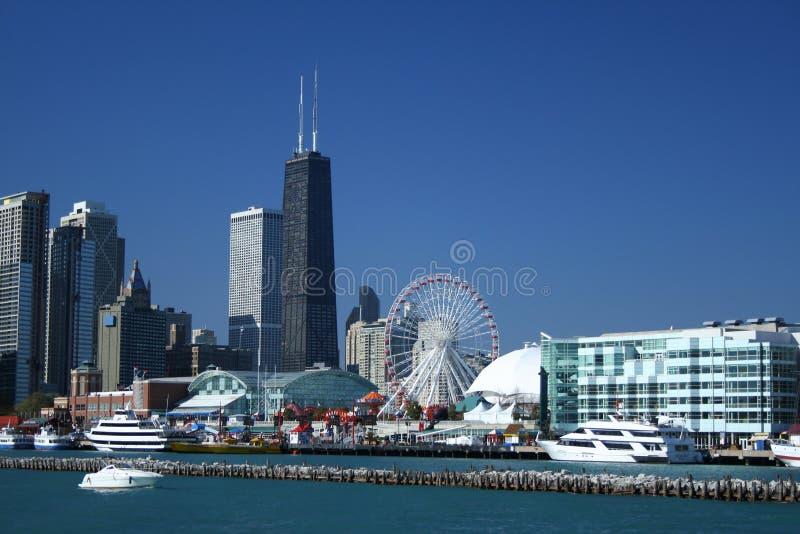 Pilastro Chicago del blu marino fotografia stock libera da diritti