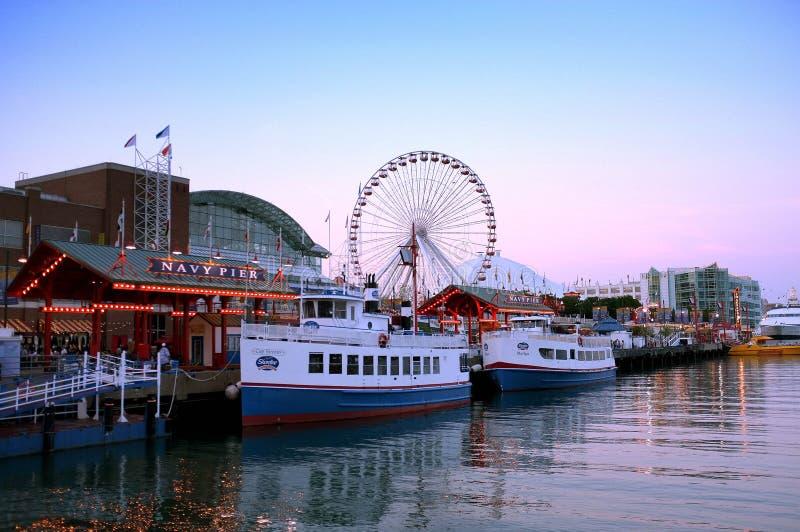 Pilastro Chicago della marina fotografia stock