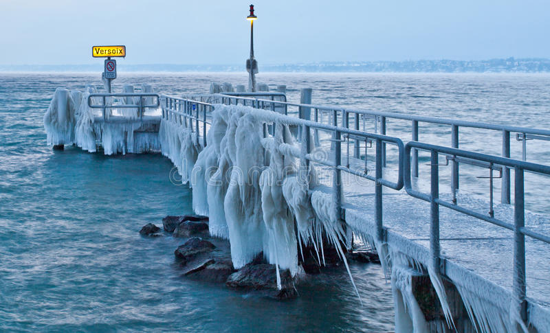 Pilastro congelato III fotografia stock