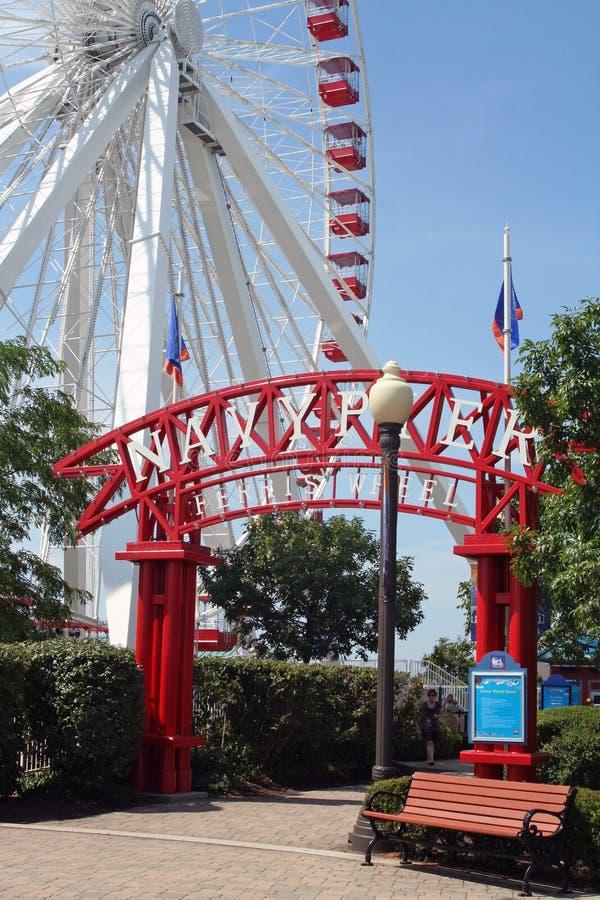 Pilastro del blu marino - Chicago fotografie stock libere da diritti