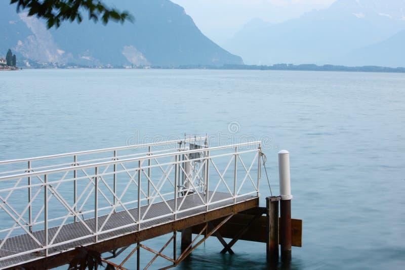 Pilastro del lago lucerne fotografia stock