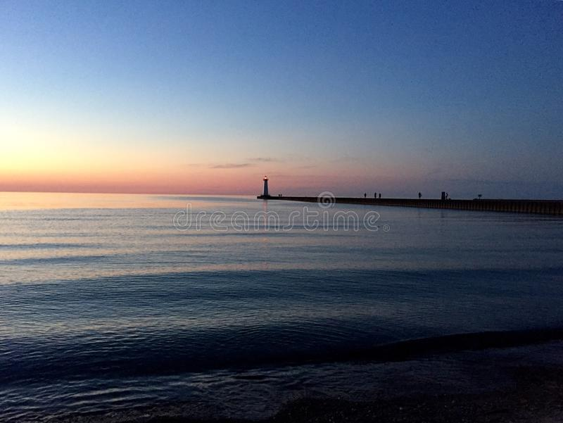 Pilastro del lago Ontario fotografie stock libere da diritti
