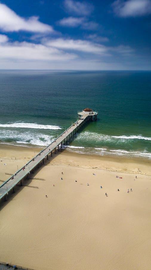 Pilastro del Manhattan Beach immagine stock libera da diritti