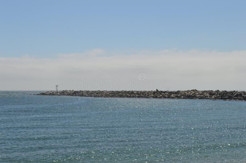 Pilastro della roccia alla baia California di Morro fotografia stock libera da diritti