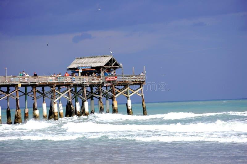 Pilastro della spiaggia del cacao fotografie stock