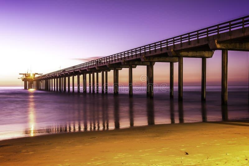 Pilastro della spiaggia di La Jolla fotografia stock libera da diritti