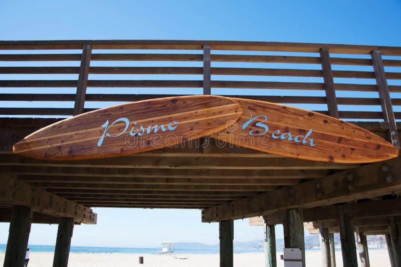 Pilastro della spiaggia di Pismo fotografia stock libera da diritti