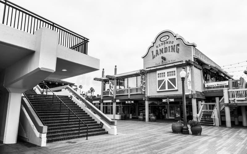 Pilastro di atterraggio di Redondo, Redondo Beach, California, Stati Uniti d'America, Nord America fotografie stock libere da diritti