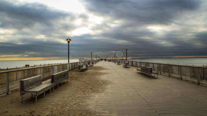 Pilastro di Coney Island immagini stock libere da diritti