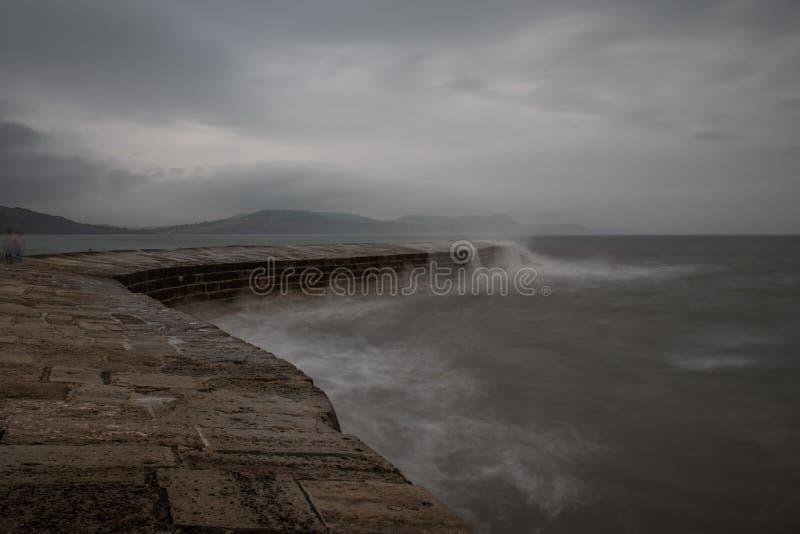 Pilastro di Lyme Regis fotografia stock