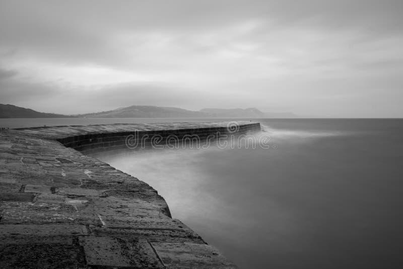 Pilastro di Lyme Regis immagini stock libere da diritti