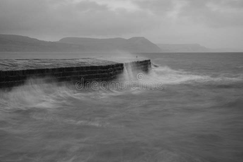 Pilastro di Lyme Regis fotografia stock libera da diritti