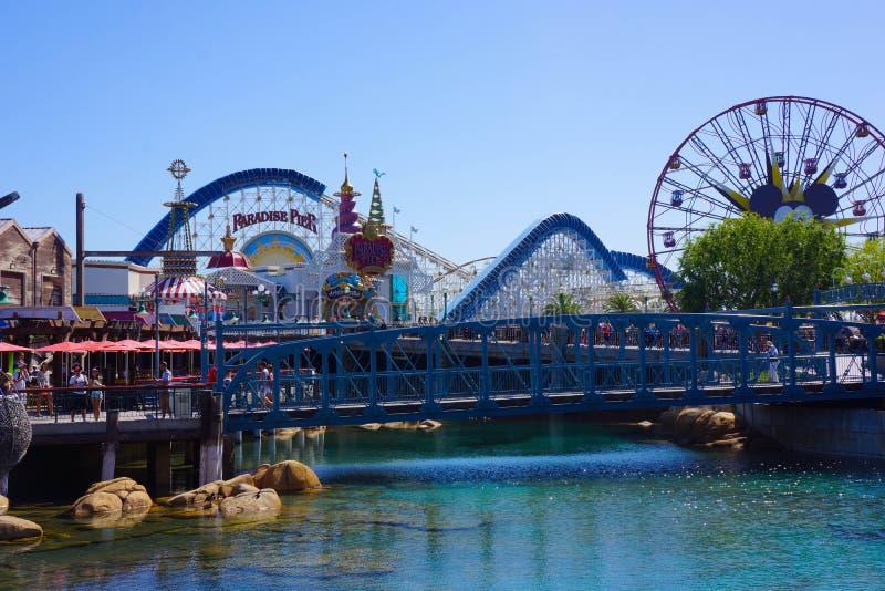 Pilastro di paradiso all'avventura di California immagini stock libere da diritti