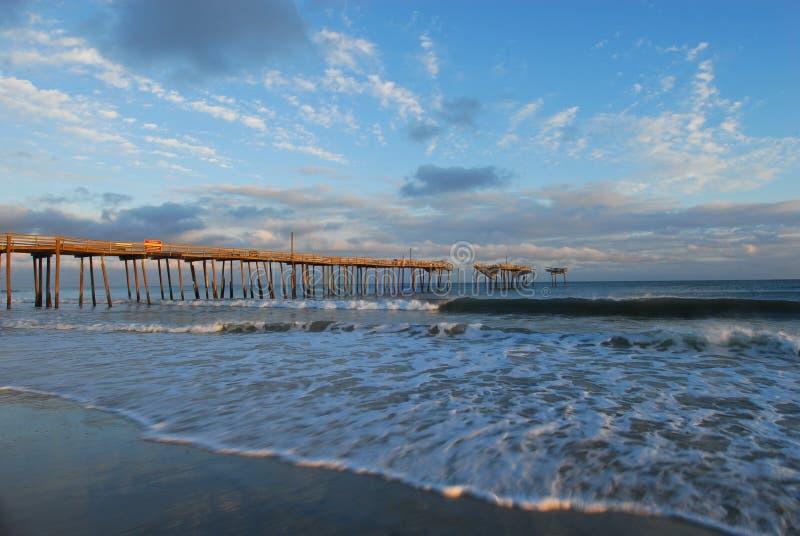 Pilastro di pesca del North Carolina immagine stock