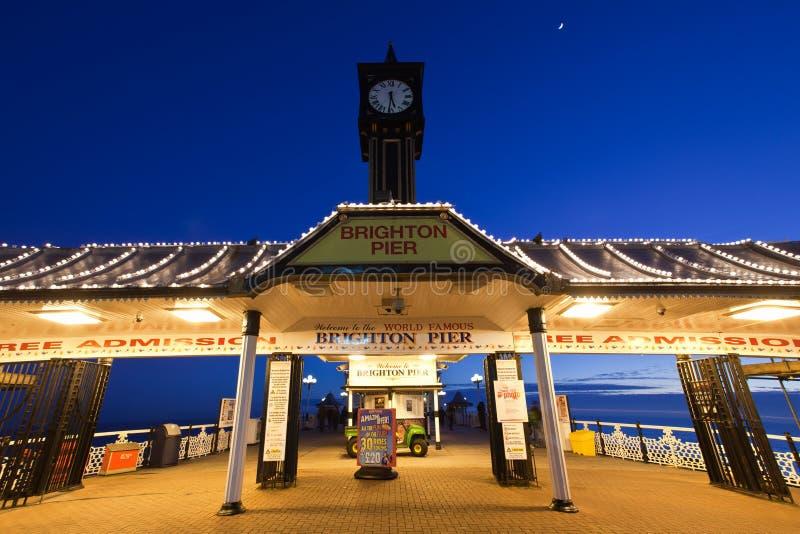 Pilastro Inghilterra di Brighton fotografie stock libere da diritti