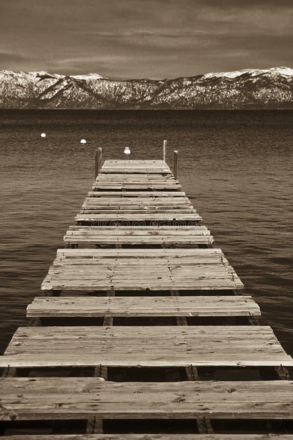 Pilastro, Lake Tahoe fotografia stock