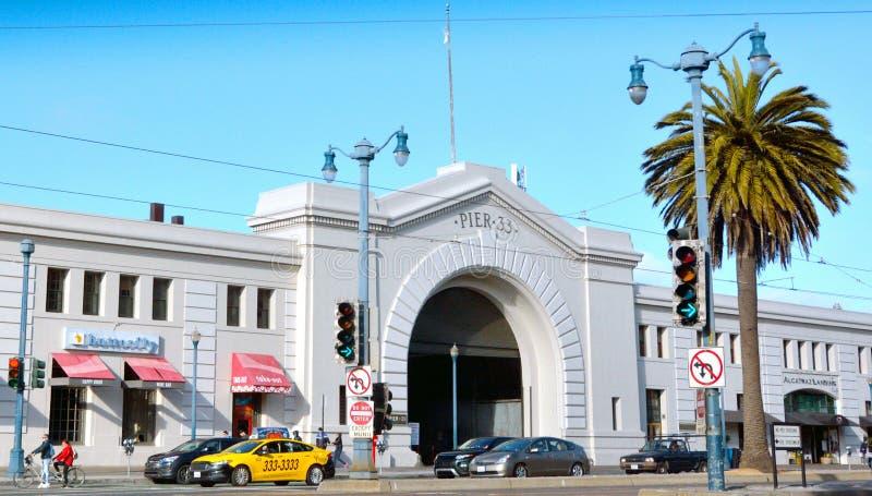Pilastro 33 nel lungomare di San Francisco Embarcadero immagine stock