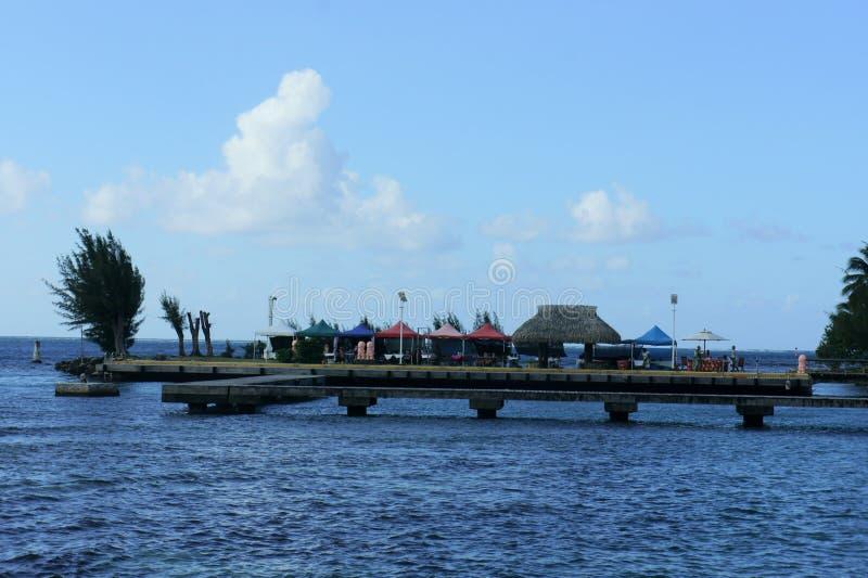 Pilastro nell'isola di Moorea immagine stock