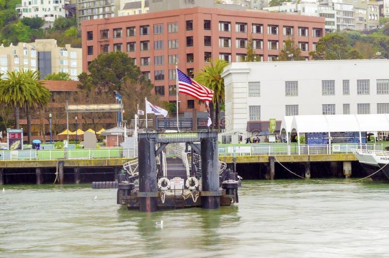 Pilastro 33, San Francisco di Alcatraz fotografie stock libere da diritti