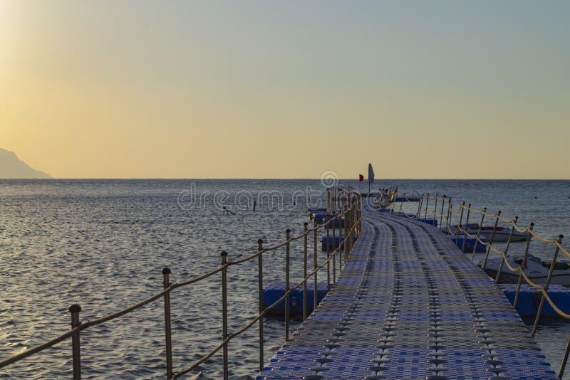 Pilastro sul Mar Rosso, Sharm el Sheikh, Egitto immagini stock libere da diritti