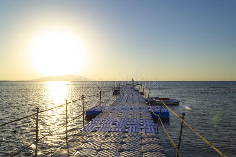 Pilastro sul Mar Rosso, Sharm el Sheikh, Egitto ALBA immagine stock libera da diritti