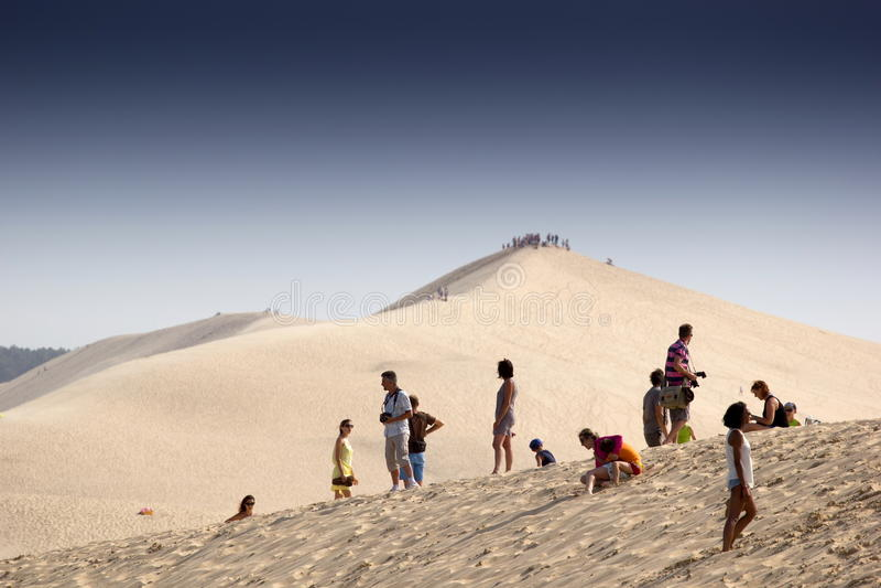 Pilat沙丘  免版税库存照片