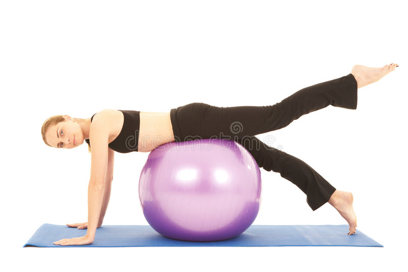 Pilates Übungsserie lizenzfreie stockfotografie