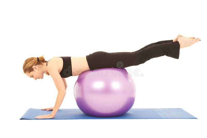 Pilates Übungsserie stockfoto
