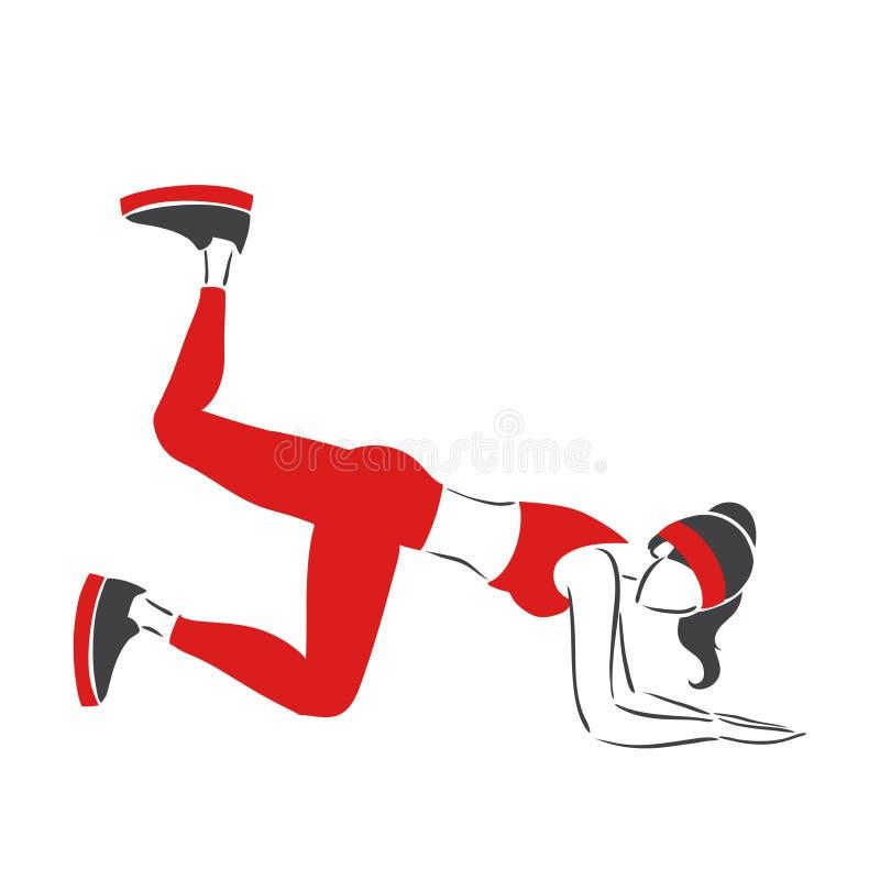Pilates иллюстрация вектора