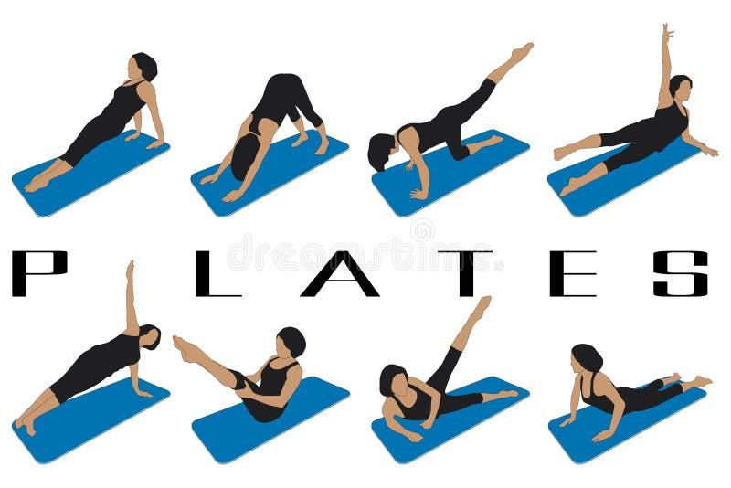 Pilates бесплатная иллюстрация
