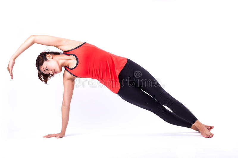 Pilates action royalty free stock image