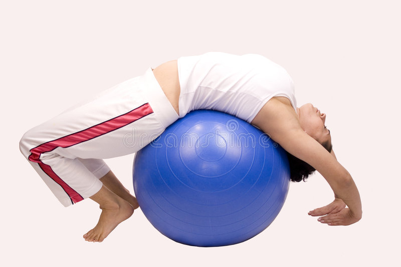 Download Pilates Ball stock image. Image of shape, pretty, stomach - 4186175