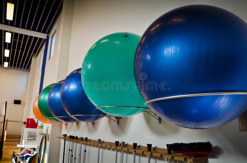 Download Pilates Balls in Line stock photo. Image of pilates, lined - 20332372