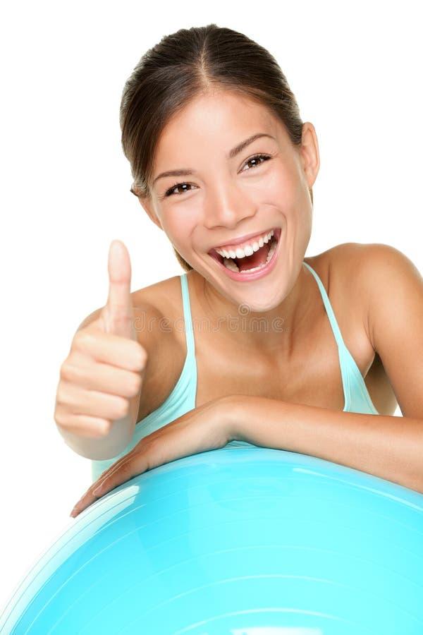 Pilates de femme de forme physique photographie stock libre de droits