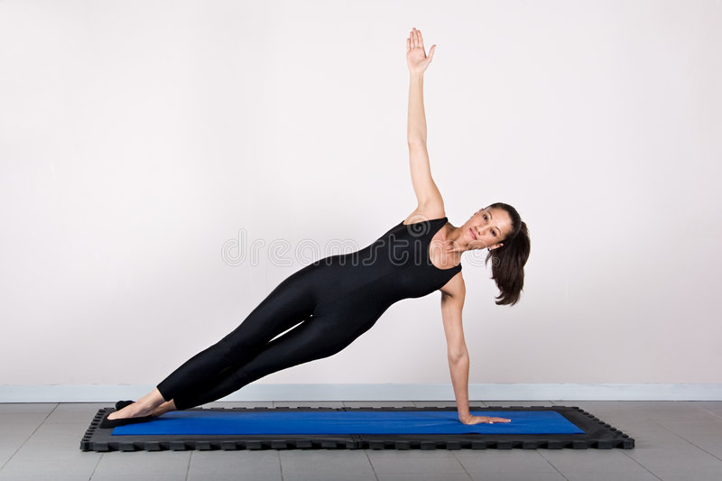 Pilates de gymnastique photo stock
