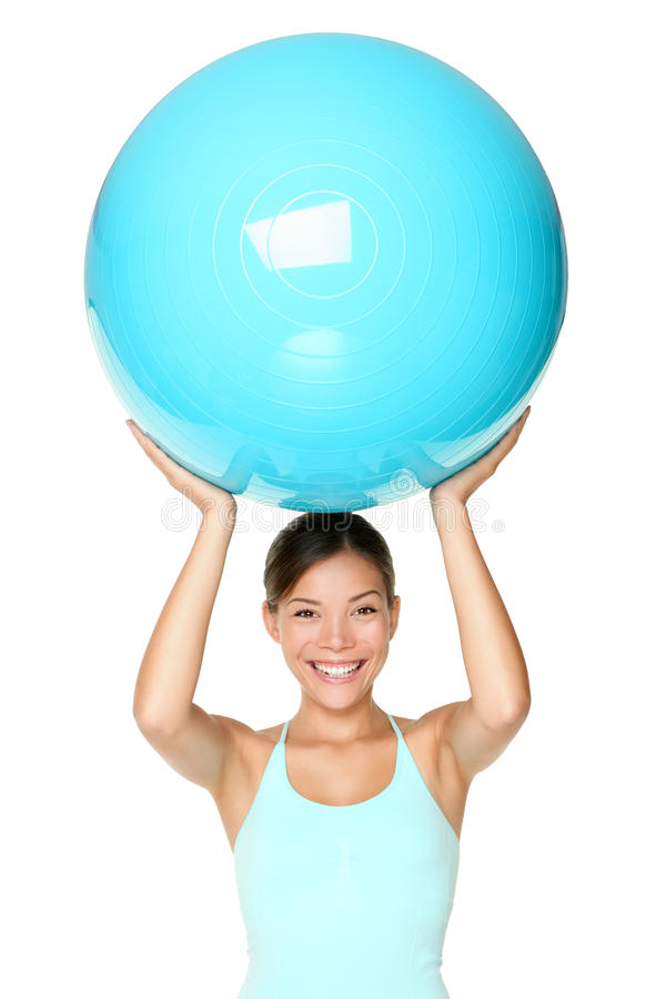 Pilates fitness woman isolated royalty free stock image