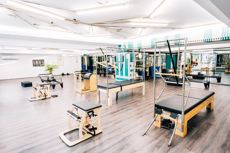 Pilates gym stock images