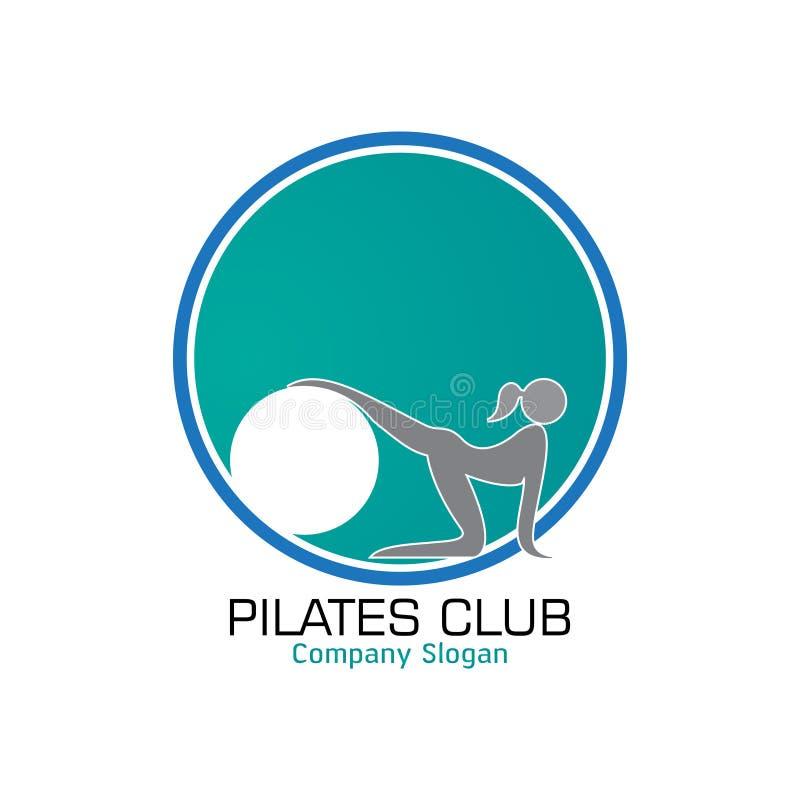 Pilates logodesign stock illustrationer