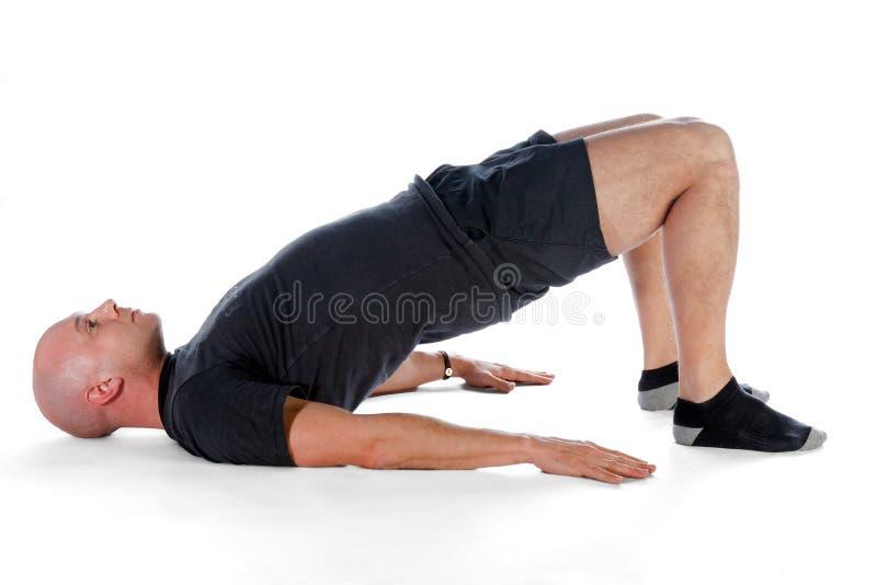 Pilates - ponte do ombro fotografia de stock royalty free
