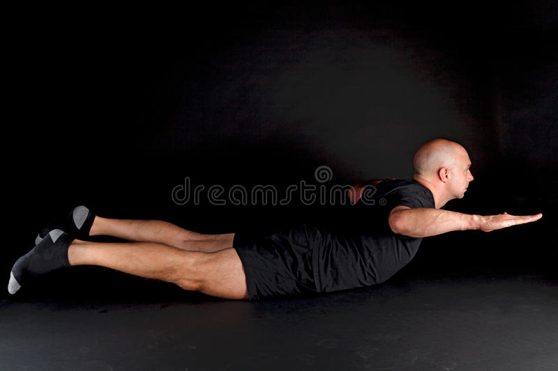 Pilates Position - Swan Dive Stock Image