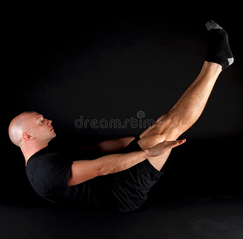 Pilates Stellung - das hundert lizenzfreie stockbilder
