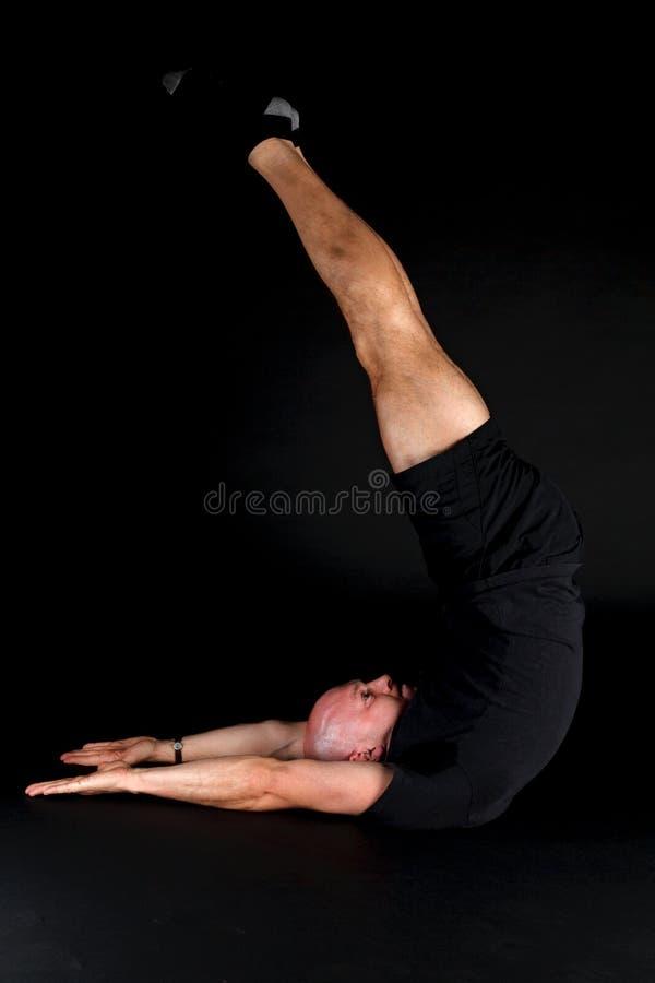 Pilates Stellung - Jack-Messer stockfotos