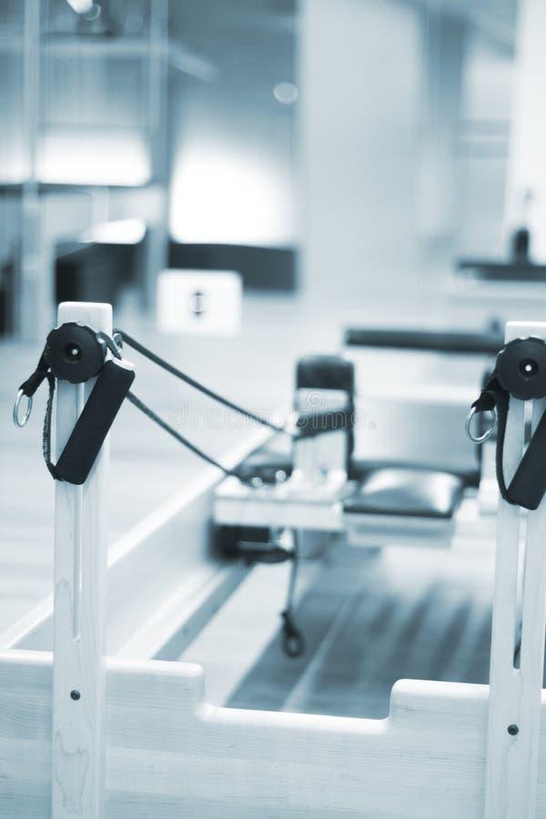 Pilates studio gym reformer royalty free stock photography