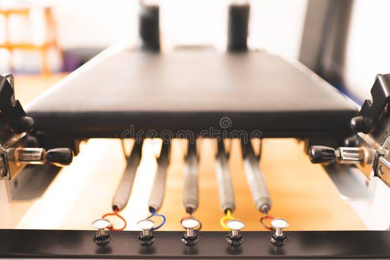 Pilates utrustningvärldsförbättrare royaltyfri foto