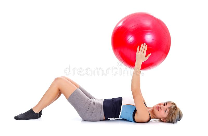 Pilates Working Out Royalty Free Stock Image