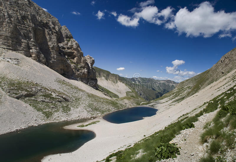 Pilato Lakes at midday royalty free stock images