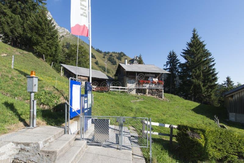 Pilatus-Eisenbahn, die Schweiz stockfoto
