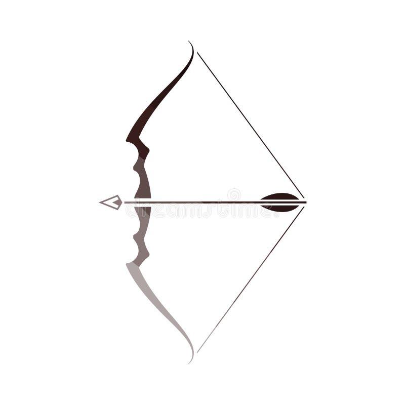 Pilb?ge med pilsymbolen royaltyfri illustrationer