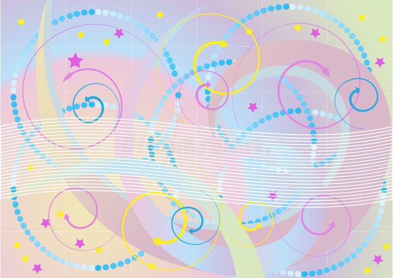 Download Pilbac-bakgrund Beads Brokiga Stjärnor Vektor Illustrationer - Illustration av pastell, arrowheaden: 19793276