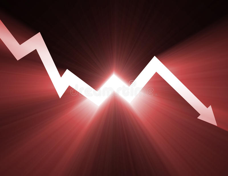 pildiagrammet blossar ner den ljusa linjen materiel vektor illustrationer